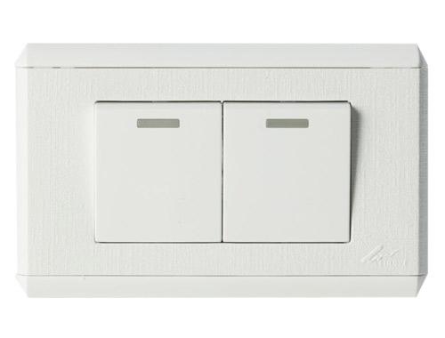 灵智C118系列2-2(C)白色开关